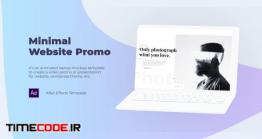 دانلود پروژه آماده افترافکت : معرفی وب سایت Minimal Website Promo – Laptop Mockup