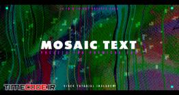 دانلود 20 پریست متن مخصوص پریمیر Mosaic Text Presets