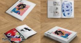 دانلود موکاپ مجله  Print And Screen Magazine Mockups