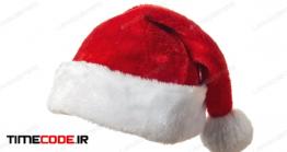 دانلود عکس کلاه بابانوئل  Santa Hat On White