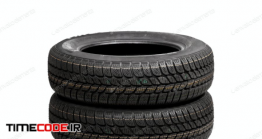 دانلود عکس لاستیک با پس زمینه سفید  Set Of Car Tires Isolated