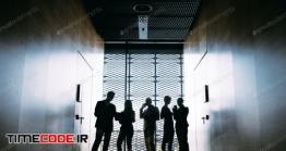 دانلود عکس ضد نور کارمندان شرکت  Silhouettes Of Business People