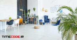 دانلود عکس طراحی داخلی آپارتمان  Studio Apartment Interior