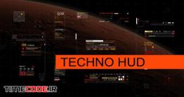 دانلود پروژه آماده افترافکت Techno HUD