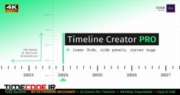 دانلود پروژه آماده افترافکت : تایم لاین اینفوگرافی Timeline Creator Kit PRO