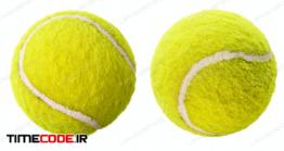 دانلود عکس توپ تنیس  Two Tennis Balls Isolated