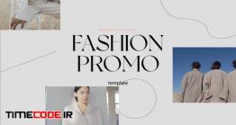 دانلود پروژه آماده افترافکت : پوشاک Typographic Fashion Promo