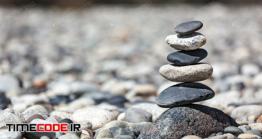 دانلود عکس سنگ های چیده شده روی یکدیگر  Zen Balanced Stones Stack