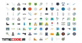 دانلود پروژه آماده افترافکت : 100 آیکون انیمیشن فضایی Space & Universe Icons