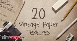 دانلود 20 تکسچر کاغذ کهنه  Vintage Paper Textures / Backgrounds