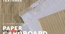 دانلود 26 تکسچر مقوا و کارتن  Cardboard Paper Textures