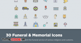 دانلود 30 آیکون مراسم ترحیم Funeral & Memorial Icons