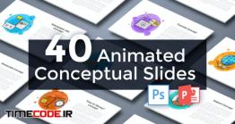 دانلود قالب پاورپوینت + 40 اسلاید موشن گرافیک Animated Conceptual Slides For Powerpoint