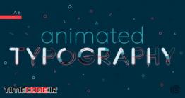 دانلود آموزش تایپوگرافی در افتر افکت Animated Typography In After Effects