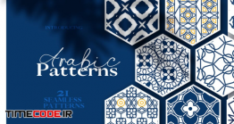 دانلود پترن اسلامی و عربی  Arabic & Islamic Seamless Patterns