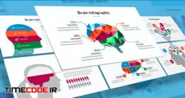 دانلود قالب پاورپوینت اینفوگرافی مغز Brain Infographic For Powerpoint Template