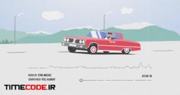 دانلود پروژه آماده افترافکت : اکولیزر کارتونی با تکان ماشین Car Audio Visualizer