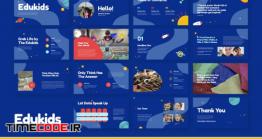 دانلود قالب پاورپوینت آموزش و پرورش کودکان Edukids – Kindergarden Educational Presentation