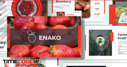 دانلود قالب پاورپوینت کاشت و پرورش میوه Enako – Fruits Powerpoint Template