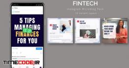 دانلود قالب پست اینستاگرام Fintech – Instagram Microblog Pack