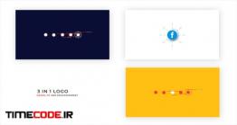 دانلود پروژه آماده افترافکت : لوگو موشن فلت Flat Logo Opener 3 In 1