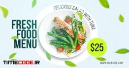 دانلود پروژه آماده افتر افکت : تیزر تبلیغاتی منو رستوران Fresh Food Menu