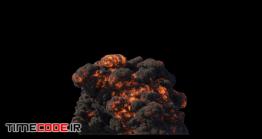 دانلود فوتیج آلفا انفجار Fuel Explosion On Black With Alpha Mask