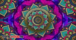 دانلود بک گراند موشن گرافیک زیبابین با طرح گل Fullcolor Flower Kaleido