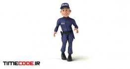 دانلود کاراکتر موشن گرافیک : پلیس Fun 3D Cartoon Policeman Dancing
