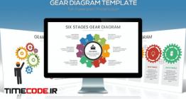 دانلود قالب پاورپوینت اینفوگرافی پازلی Gear Diagram Powerpoint Template