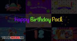 دانلود پروژه آماده افترافکت : المان های جشن تولد Happy Birthday Pack