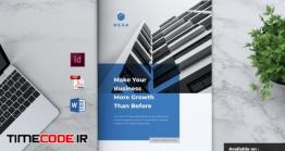 دانلود بروشور لایه باز رزومه شرکت HEXA Professional Company Profile Brochures