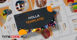 دانلود قالب پاورپوینت دانش آموزی Holla | Powerpoint Template