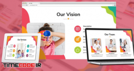 دانلود قالب پاورپوینت دانش آموزی + گوگل اسلاید Kids Zone – Playful Google Slides Template