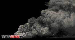 دانلود فوتیج آلفا دود Large Smoke On Black With Alpha Mask