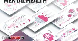 دانلود قالب پاورپوینت اینفوگرافی مغز MENTAL HEALTH – PowerPoint Infographics Slides