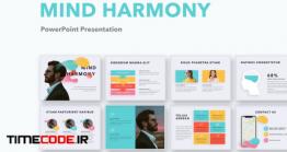دانلود قالب پاورپوینت روانشناسی Mind Harmony PowerPoint Template