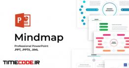 دانلود قالب پاورپوینت روانشناسی نقشه ذهنی  Mindmap PowerPoint Template