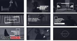 دانلود پروژه آماده پریمیر : تایپوگرافی Minimalistic Typography Pack