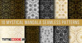 دانلود پترن ماندالا  Mystical Mandala Seamless Patterns Set