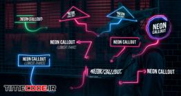 دانلود پروژه آماده پریمیر : اینفوگرافی نئون Neon Call Outs