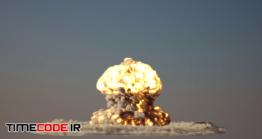 دانلود فوتیج انفجار Nuke Explosion With Alpha Mask
