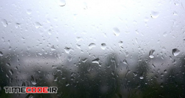 دانلود فوتیج بارش باران روی شیشه Rain