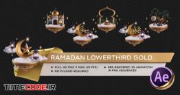 دانلود پروژه آماده افتر افکت : زیرنویس ماه رمضان Ramadan Lower Third Gold