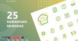 دانلود آیکون رمضان مبارک  Ramadhan Mubarak Shape Icons