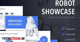 دانلود قالب آماده پاورپوینت رباتیک Robot Showcase PowerPoint Template