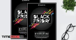 دانلود آگهی لایه باز جمعه سیاه Salefun – Happy Black Friday Flyer HR