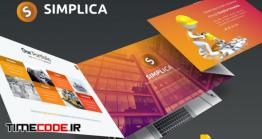 دانلود قالب پاورپوینت مهندسی + گوگل اسلاید Simplica Template