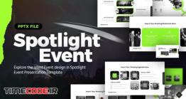 دانلود قالب پاورپوینت مخصوص همایش Spotlight Event Powerpoint Presentation Template