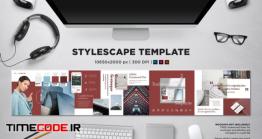 دانلود قالب آماده مود برد  Stylescape / Moodboard Template